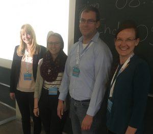 Foto (v. l.): Nach dem Symposium Carolin Dust, Laura Creon, Prof. Dr. Alexander Pundt und Prof. Dr. Laura Venz